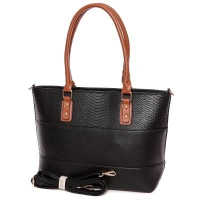 Dudlin fekete-barna női táska
