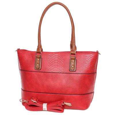 Dudlin piros-barna női táska