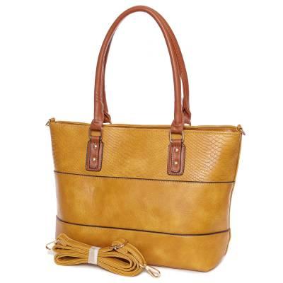 Dudlin sárga-barna női táska