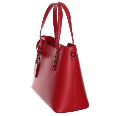 Sötétpiros bőr női táska