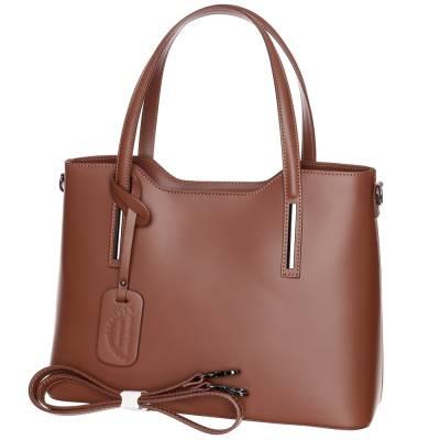 Barna bőr női táska