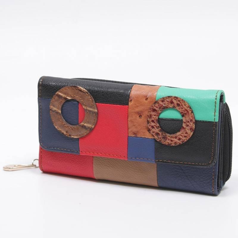 8049d34fbc57 Színes női pénztárca #803