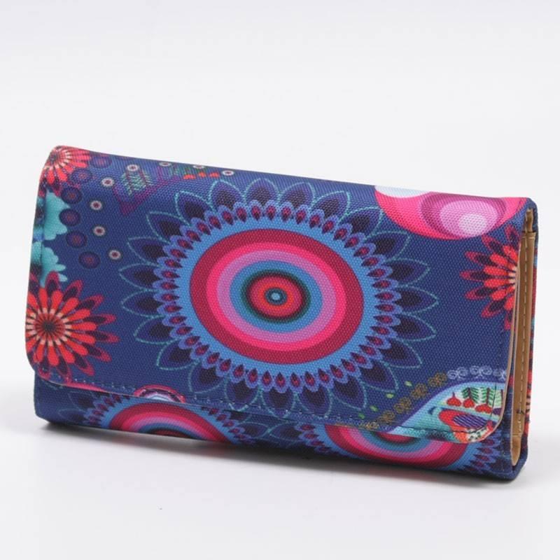 5fa643c66f83 Divatos, színes, mintás női pénztárca #810
