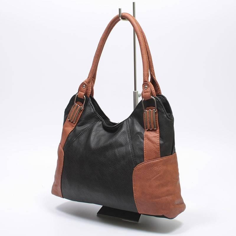 Fekete-barna divatos női táska  987 57abee2eb5