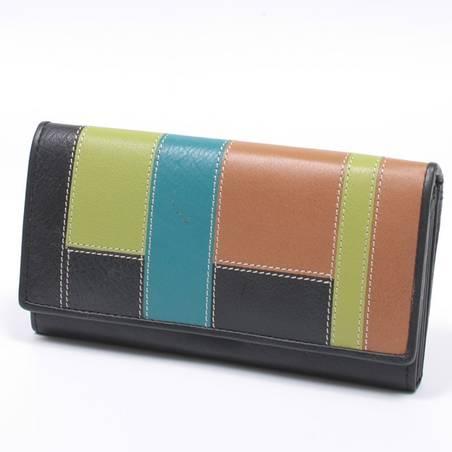 byLupo fekete-színes bőr pénztárca
