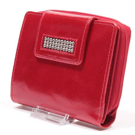 Sylvia Belmonte Swarovski köves piros női bőr pénztárca