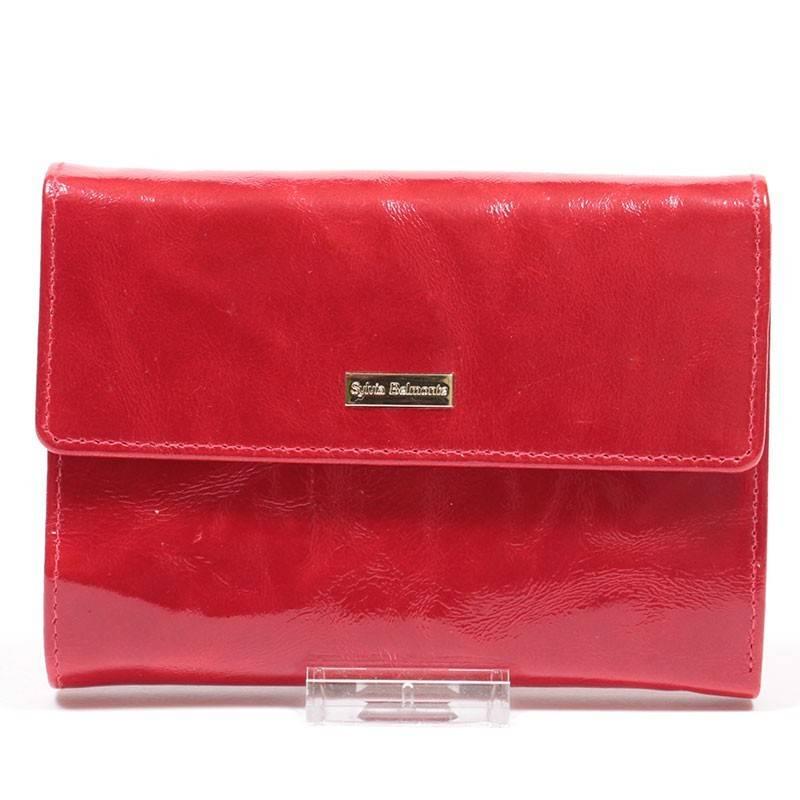 Sylvia Belmonte piros női bőr pénztárca