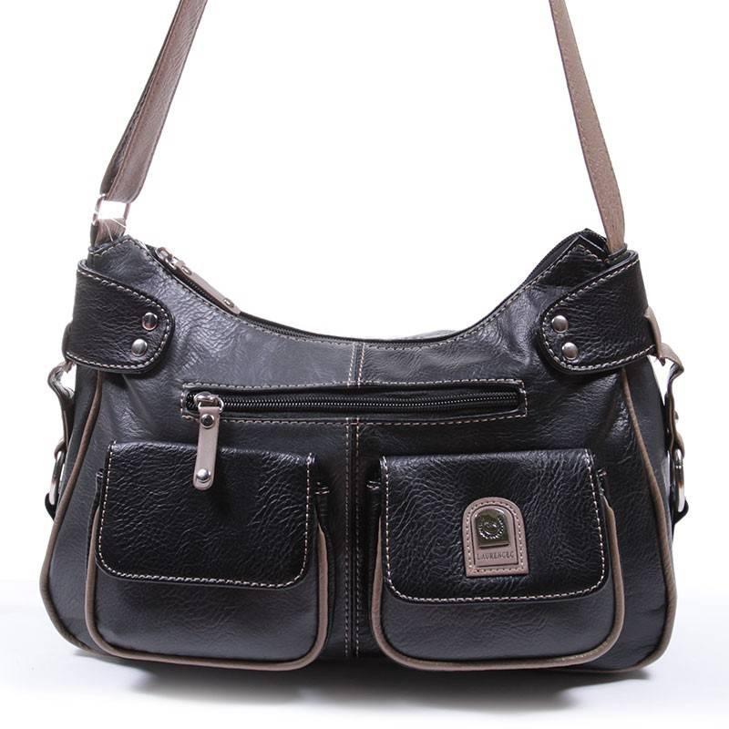 Laurence C fekete-szürke női táska  1289 ffc9ee9796