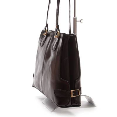 Fekete női olasz bőr táska