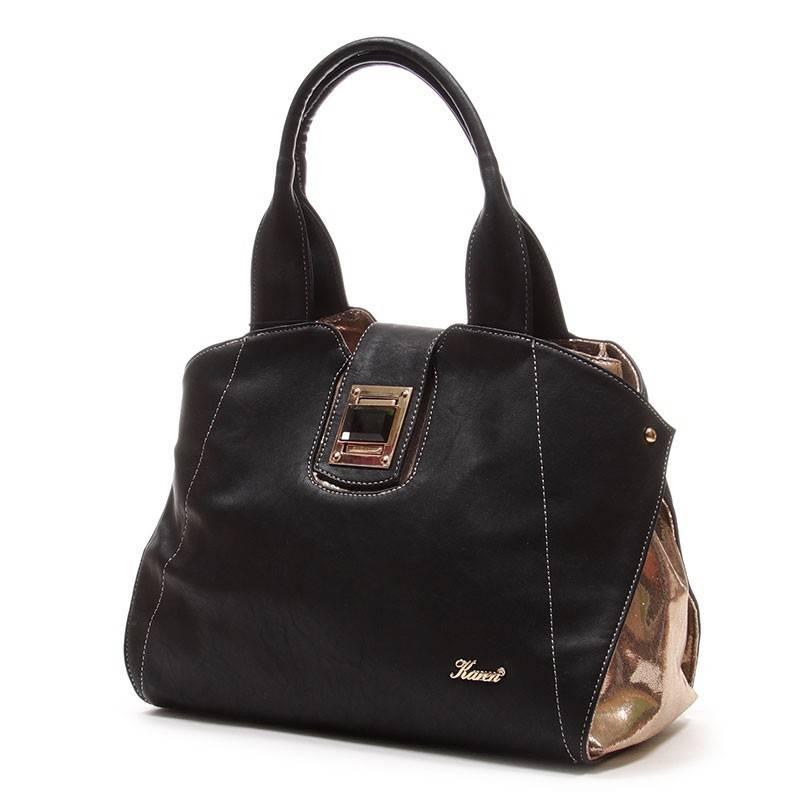 Karen fekete-arany rostbőr női táska  1605 d577ef9b7d