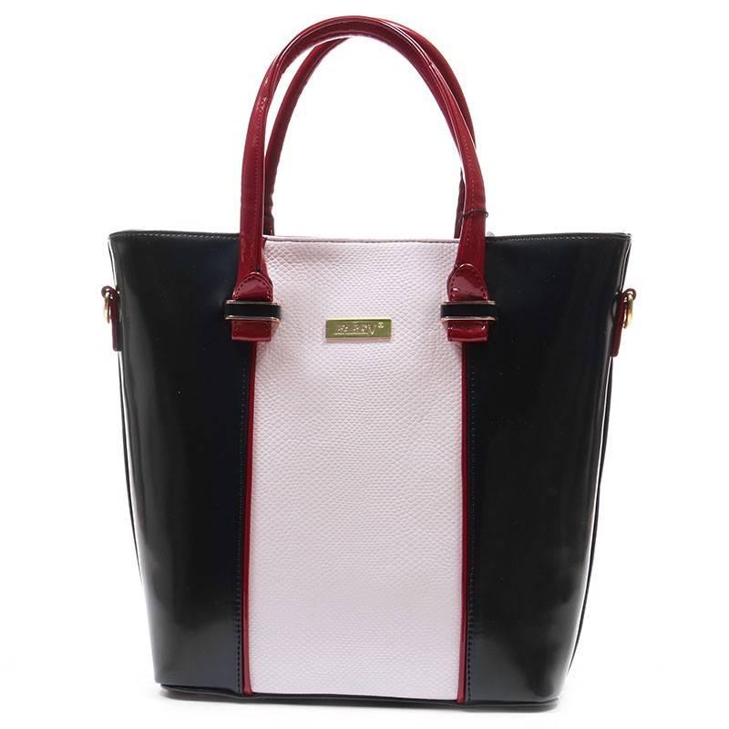 2b84a2335a74 Karen kék-fehér merev falú női rostbőr táska #1625