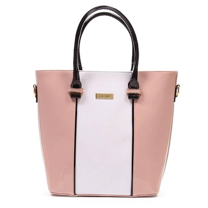 Karen púder-fehér merev falú női rostbőr táska  1702 de2b7bbb1d