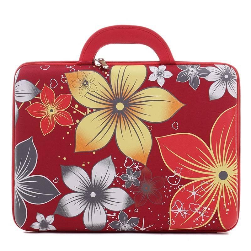 643b86ea9b28 Piros virág mintás laptop tartó #1883
